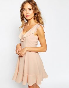 Elegant Brown Night Dress